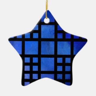 Cappanella V1 - blaue Quadrate Keramik Ornament