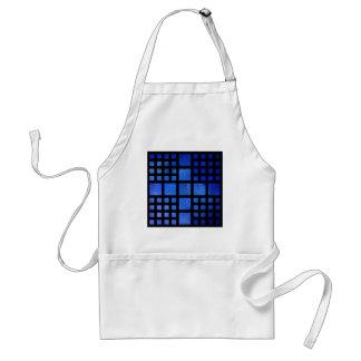 Cappanella V1 - blaue Quadrate Schürze