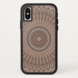 Cappuccino-Mandala iPhone X Hülle