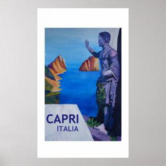 Capri Italien - Retro Art-Plakat Poster