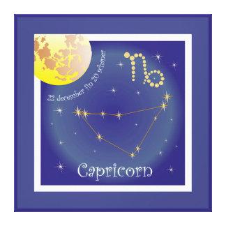 Capricorn 22 december fin 20 schaner Leinwand
