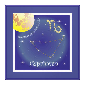 Capricorn December 22 to January 20 Leinwand