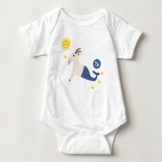 Capricorn sea goat baby bodysuit zodiac star sign baby strampler