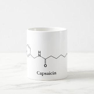 Capsaicin-Molekül-Chemie-würzige Kaffeetasse