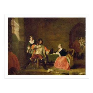 Captain Macheath Upbraided durch Polly und Lucy im Postkarte