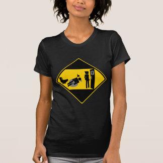 Captian lächerliches Verkehrsschild T-Shirt