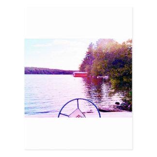 captian von Ihrem perfekten Licht des Schiffs Postkarte