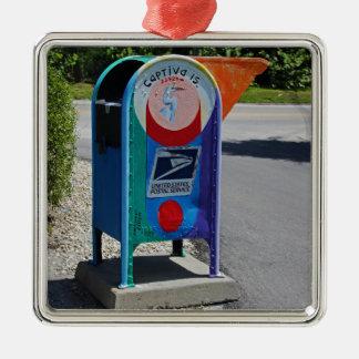 Captiva Insel-Briefkasten horizontal Silbernes Ornament