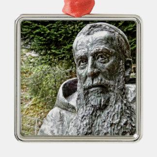 Capucin Mönch Quadratisches Silberfarbenes Ornament