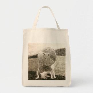 Capybara und die Katze Tragetasche