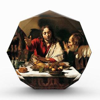 Caravaggio - Abendessen bei Emmaus - klassische Acryl Auszeichnung
