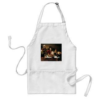 Caravaggio - Abendessen bei Emmaus - klassische Schürze