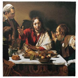 Caravaggio - Abendessen bei Emmaus - klassische Serviette