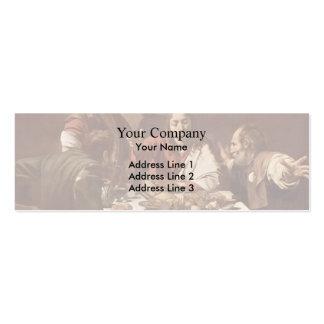 Caravaggio- Abendessen bei Emmaus Visitenkarten Vorlagen