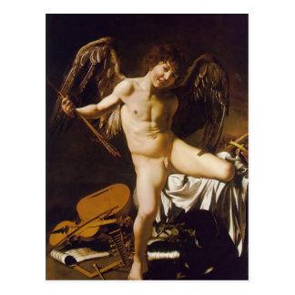Caravaggio- Amor siegreich Postkarte