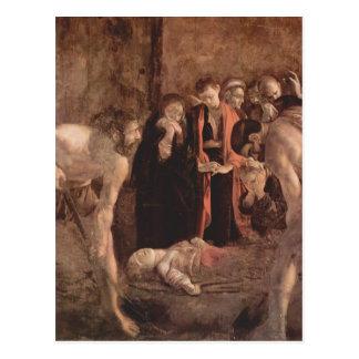 Caravaggio- Beerdigung des Heiligen Lucy Postkarte