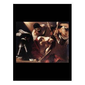 Caravaggio das Krönen mit den Dornen Postkarte