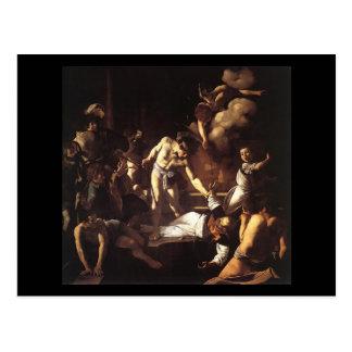 Caravaggio das Martyrium von St Matthew Postkarte