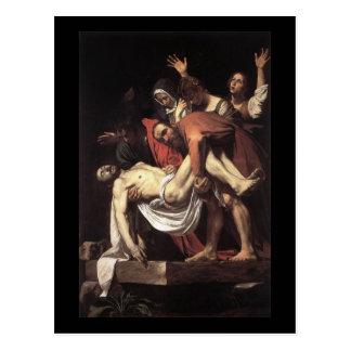Caravaggio der Entombment Postkarte