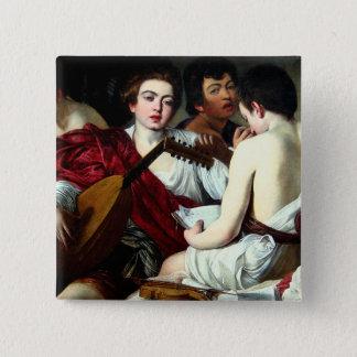 Caravaggio der Musiker-Knopf Quadratischer Button 5,1 Cm