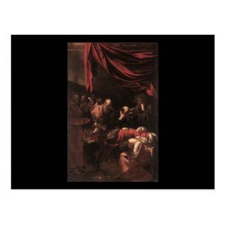 Caravaggio der Tod der Jungfrau Postkarte