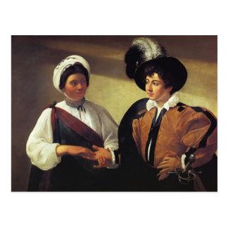 Caravaggio- der Wahrsager Postkarte