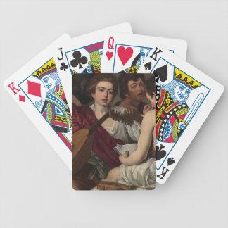 Caravaggio - die Musiker - klassische Grafik Bicycle Spielkarten
