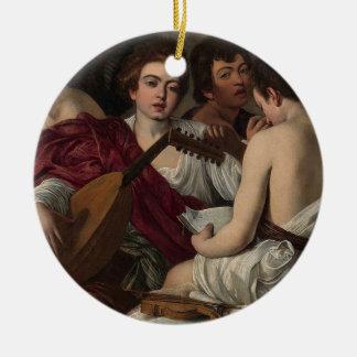 Caravaggio - die Musiker - klassische Grafik Keramik Ornament