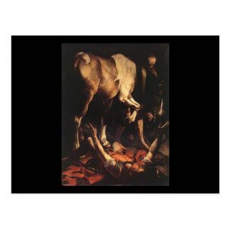 Caravaggio die Umwandlung nach Damaskus Postkarte