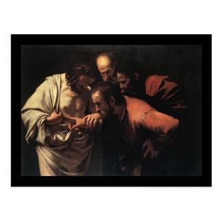 Caravaggio die Ungläubigkeit von Heiligem Thomas Postkarte