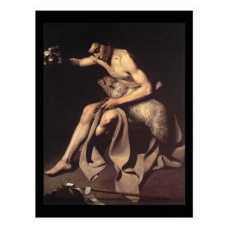 Caravaggio Johannes der Baptist Postkarte