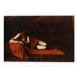 Caravaggio- Johannes der Täufer (stützender Postkarte