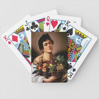 Caravaggio - Junge mit einem Korb der Bicycle Spielkarten