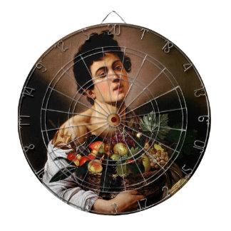 Caravaggio - Junge mit einem Korb der Dartscheibe