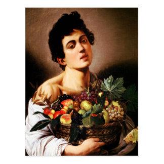 Caravaggio Junge mit einem Korb der Frucht Postkarte