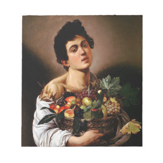 Caravaggio - Junge mit einem Korb der Notizblock