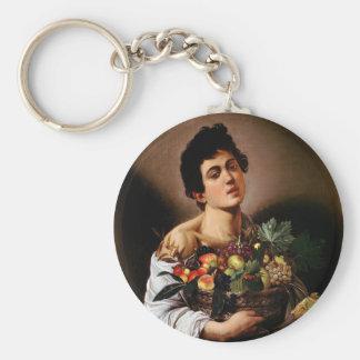 Caravaggio - Junge mit einem Korb der Schlüsselanhänger