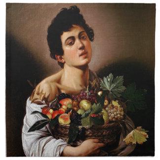 Caravaggio - Junge mit einem Korb der Stoffserviette