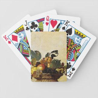 Caravaggio - Korb der Frucht - klassische Grafik Bicycle Spielkarten