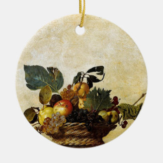 Caravaggio - Korb der Frucht - klassische Grafik Keramik Ornament