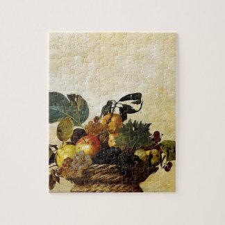 Caravaggio - Korb der Frucht - klassische Grafik Puzzle