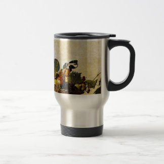 Caravaggio - Korb der Frucht - klassische Grafik Reisebecher