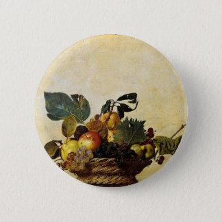 Caravaggio - Korb der Frucht - klassische Grafik Runder Button 5,1 Cm