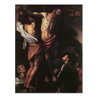 Caravaggio- Kreuzigung von St Andrew Postkarte