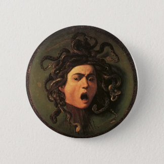 Caravaggio - Medusa - klassische italienische Runder Button 5,7 Cm