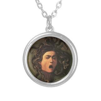 Caravaggio - Medusa - klassische italienische Versilberte Kette