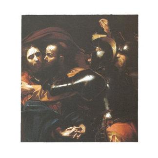 Caravaggio - Nehmen von Christus - klassische Notizblock