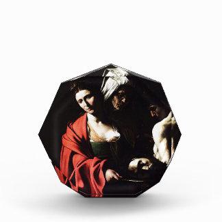 Caravaggio - Salome - klassische barocke Grafik Acryl Auszeichnung
