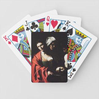 Caravaggio - Salome - klassische barocke Grafik Bicycle Spielkarten