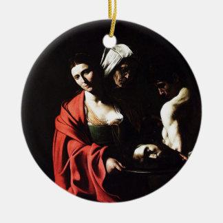 Caravaggio - Salome - klassische barocke Grafik Keramik Ornament